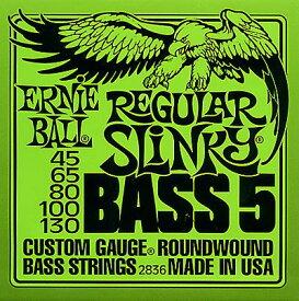ERNIE BALL Custom Gauge Round Wound Bass 5-Strings/ 2836 REGULAR SLiNKY