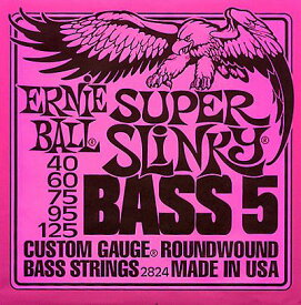 ERNIE BALL Custom Gauge Round Wound Bass 5-Strings/#2824 SUPER SLiNKY