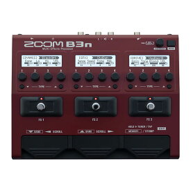 あす楽 新品 即納可能 ZOOM B3n [Multi-Effects Processor] 【送料無料】 【rpt5】