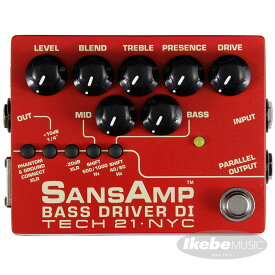TECH21 SANSAMP BASS DRIVER DI V2 (Vermilion) 【イケベオリジナル限定カラー】 【ひなっち解体新書プレゼント!】 【次回4月以降入荷予定】