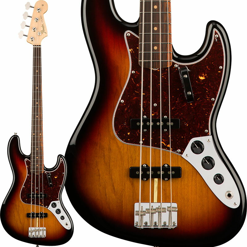 Fender USA American Original '60s Jazz Bass (3-Color Sunburst) [Made In USA] 【お取り寄せ品】 【rpt5】 【FENDER THE AUTUMN-WINTER 2018 CAMPAIGN】 【FB1225ギグバッグプレゼント】