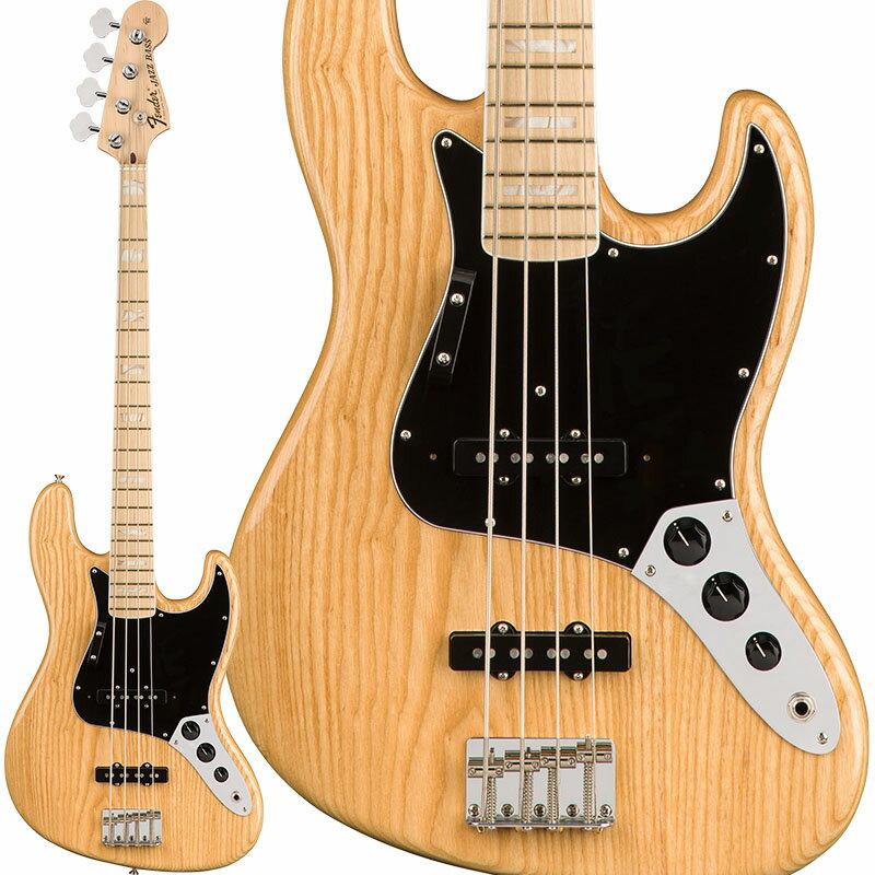Fender USA American Original '70s Jazz Bass (Natural) [Made In USA] 【お取り寄せ品】 【rpt5】 【特典付】 【オリジナルポケットウォッチプレゼント!】