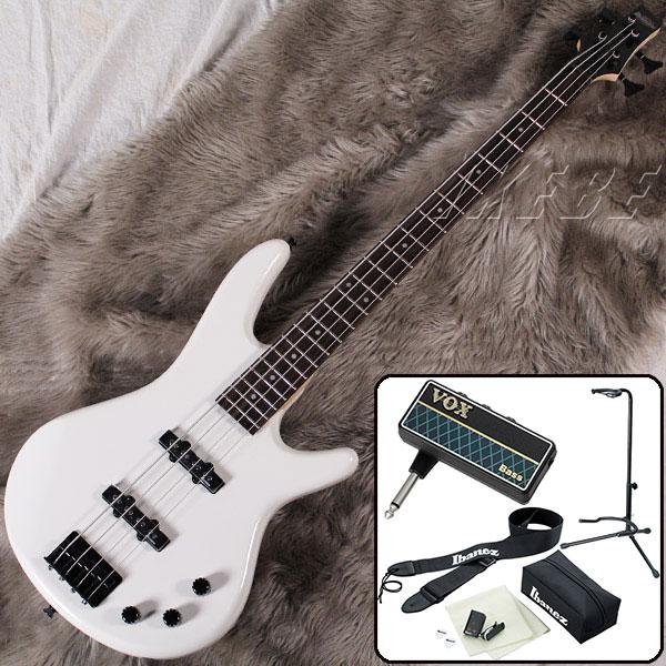 Ibanez GSR320-PW 【VOX amPlug 2 for Bass エレキベース入門1BOXセット】 【数量限定!アイバニーズ・ロゴ入りヘッドホン・プレゼント!】