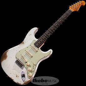 Fender Custom Shop Custom Built 1961 Stratocaster Heavy Relic Super Aged Olympic White【IKEBE Order Model】
