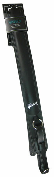 Gibson Slingshot Leather Guitar Strap (Black) [ASSS-BLK] 【限定タイムセール】