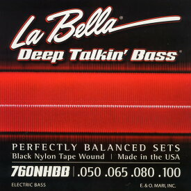 "LaBella 760NHBB for Hofner ""Beatle Bass"" [Black Nylon] 【HxIv32_04】"