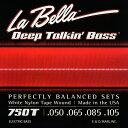 LaBella 750T White Nylon Tape Wound Bass Strings [4弦用/ホワイトナイロン弦]