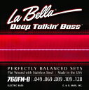 """LaBella 760FM-B """"Flat Wound Stainless Steel Bass Strings"""""""