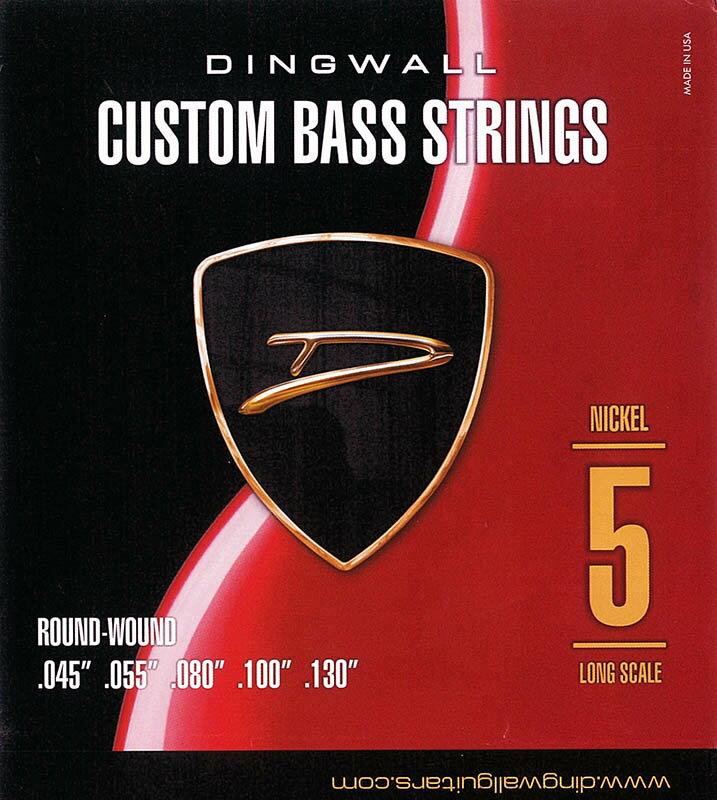 DINGWALL CUSTOM BASS STRINGS [NICKEL 5ST] SET ROUND-WOUND .045-.130