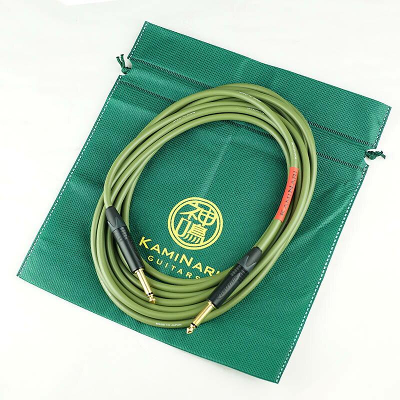 KAMINARI Electric Bass Cable K-BC5SS [エレクトリックベース専用ケーブル] (5M/SS) 【初回限定で特製ポーチ付属】