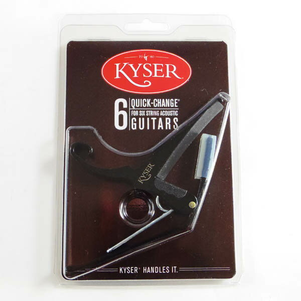 Kyser KG6B [QUICK-CHANGE CAPO] (BLACK)