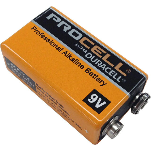 DURACELL Pro Cell [9Vアルカリ電池5個セット] 【限定タイムセール】