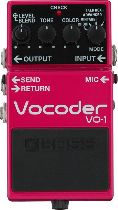 """BOSS VO-1 [Vocoder] 【期間限定★送料無料】 【大幅プライスダウン!】 【新製品AMP/FX】 【ポイント5倍】 【IKEBE×BOSSオリジナルデザインピックケースプレゼント】 【数量限定""""BOSS BD-2デザインオリジナルピンバッジ""""プレゼント!】"""
