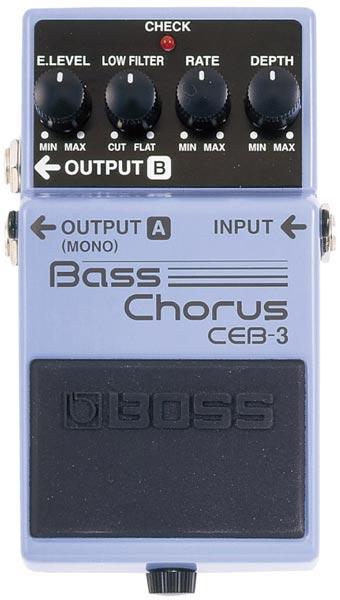 """BOSS CEB-3 [Bass Chorus] 【期間限定★送料無料】 【ポイント5倍】 【IKEBE×BOSSオリジナルデザインピックケースプレゼント】 【数量限定""""BOSS BD-2デザインオリジナルピンバッジ""""プレゼント!】"""