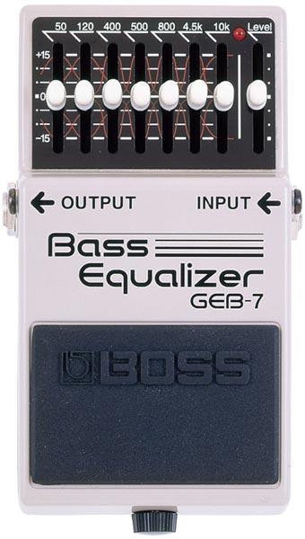"""BOSS GEB-7 [Bass Equalizer] 【期間限定★送料無料】 【ポイント5倍】 【IKEBE×BOSSオリジナルデザインピックケースプレゼント】 【数量限定""""BOSS BD-2デザインオリジナルピンバッジ""""プレゼント!】"""
