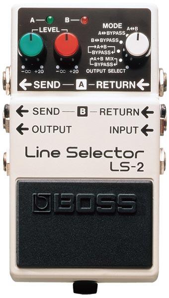 """BOSS LS-2 [Line Selector] 【期間限定★送料無料】 【ポイント5倍】 【IKEBE×BOSSオリジナルデザインピックケースプレゼント】 【数量限定""""BOSS BD-2デザインオリジナルピンバッジ""""プレゼント!】"""