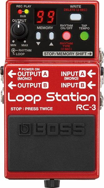 """BOSS RC-3 [Loop Station] 【期間限定★送料無料】 【ポイント5倍】 【IKEBE×BOSSオリジナルデザインピックケースプレゼント】 【数量限定""""BOSS BD-2デザインオリジナルピンバッジ""""プレゼント!】"""