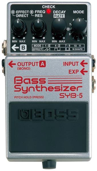 "BOSS SYB-5 [Bass Synthesizer] 【期間限定★送料無料】 【ポイント5倍】 【IKEBE×BOSSオリジナルデザインピックケースプレゼント】 【数量限定""BOSS BD-2デザインオリジナルピンバッジ""プレゼント!】"