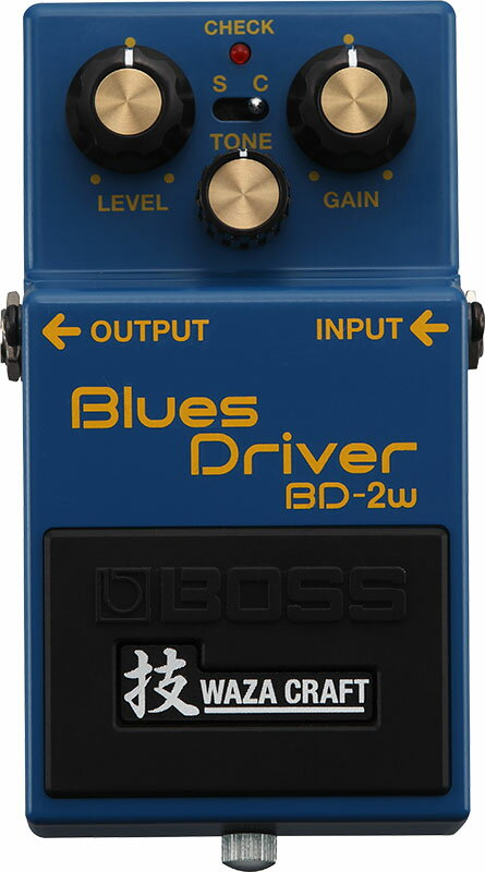 """BOSS BD-2W(J) [MADE IN JAPAN] [Blues Driver 技 Waza Craft Series Special Edition] 【期間限定★送料無料】 【ポイント5倍】 【IKEBE×BOSSオリジナルデザインピックケースプレゼント】 【数量限定""""BOSS BD-2デザインオリジナルピンバッジ""""プレゼント!】"""