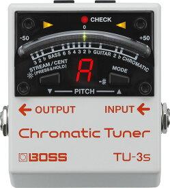 あす楽 新品 即納可能 BOSS TU-3s Chromatic Tuner 【期間限定★送料無料】 【新製品AMP/FX】 【IKEBE×BOSSオリジナルデザインアルミスポーツボトルプレゼント】
