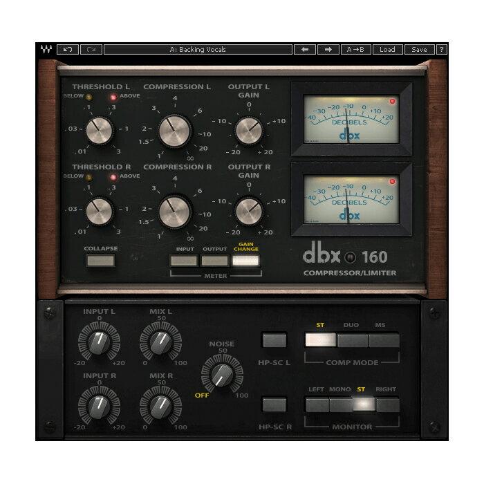 ●WAVES dbx 160 Compressor / Limiter 【D2Rオンライン納品専用ソフトウェア】 ※代金引換不可