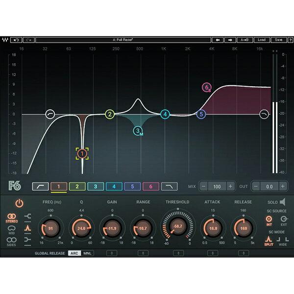 ●WAVES F6 Floating-Band Dynamic EQ 【D2Rオンライン納品専用ソフトウェア】 ※代金引換不可