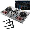 """Pioneer DJ DDJ-400-S """"シルバー""""+ PCスタンドセット 【国内池部楽器店限定モデル】 【PowerDJ'sステッカー付き!】 【Power DJ'sオ…"""