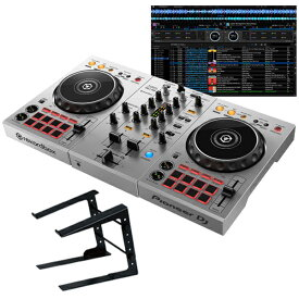 "Pioneer DJ DDJ-400-S ""シルバー""+ PCスタンドセット 【国内池部楽器店限定モデル】 【Power DJ'sオリジナル djayアプリ接続ガイドPDFプレゼント!】"