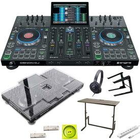 ●DENON Prime 4 + ATH-100BK + PCスタンド + DJ233 DJテーブル SET【今なら本体保護カバー&USBメモリ&高品質USBケーブル&電源タッププレゼント!】