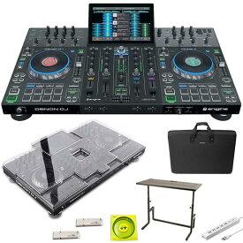●DENON Prime 4 + DJ233 DJテーブル + キャリングケース SET【今なら本体保護カバー&USBメモリ&高品質USBケーブル&電源タッププレゼント!】