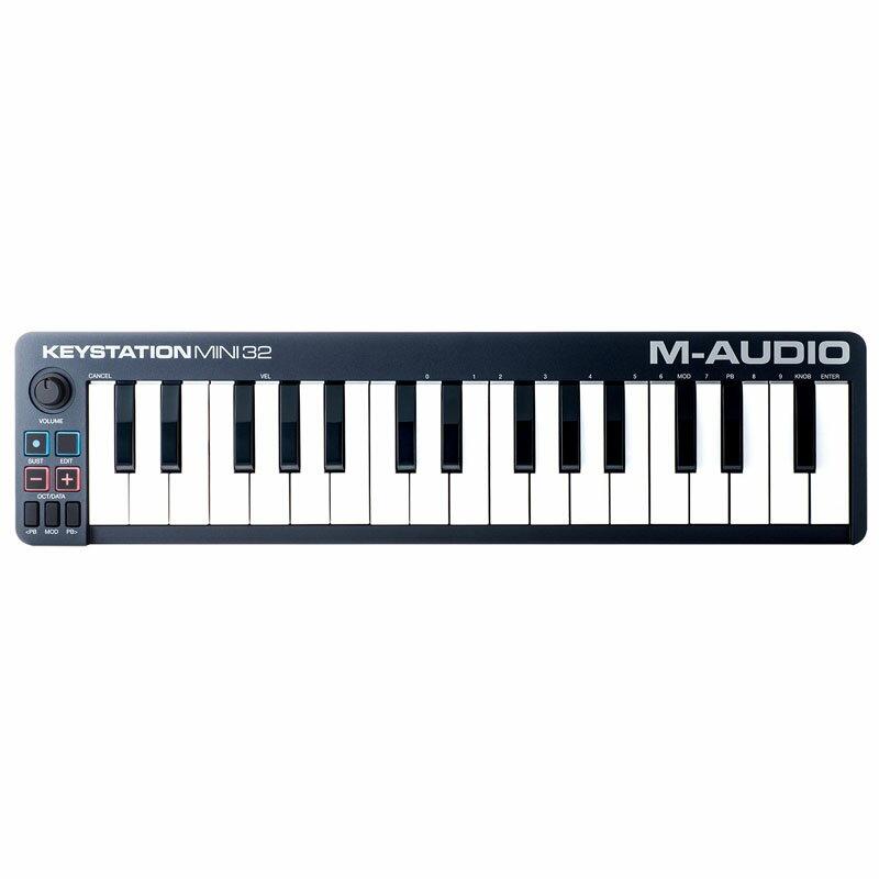 ●M-Audio Keystation Mini 32 II [32-Key Portable Keyboard Controller] 【期間限定価格】 【Ableton Live 9 Lite日本語クイックリファレンス付属】