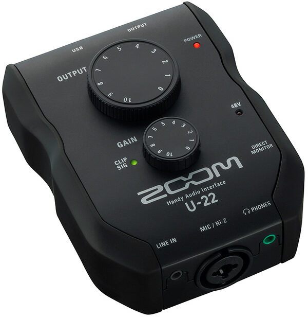 ●ZOOM U-22 [2in/2out, Handy Audio Interface] 【Pro Tools | First&21種類のプラグイン無償提供】