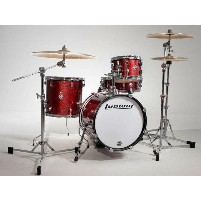 """Ludwig LC179X025 [BREAKBEATS OUT FIT / AHIMIR """"?UESTLOVE"""" THOMPSON Collaboration] (Wine Red Sparkle)"""