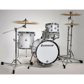 """Ludwig LC179X028 [BREAKBEATS OUT FIT / AHIMIR """"?UESTLOVE"""" THOMPSON Collaboration] (White Sparkle)"""
