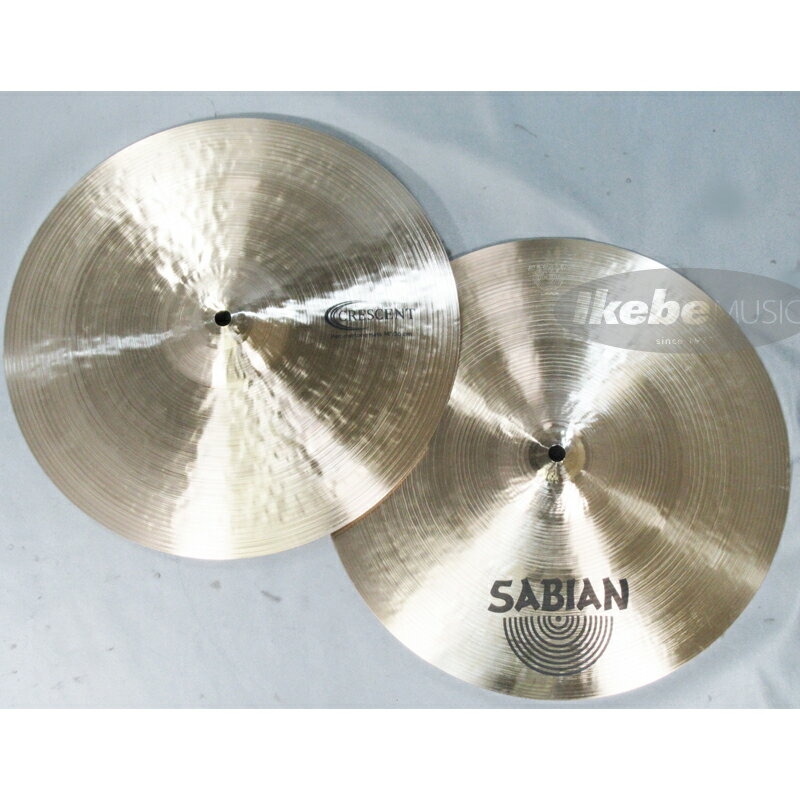 """SABIAN CR-14HH [CRESCENT Hammertone Hats 14"""" pair/Top:868g/Bottom:1188g/Stanton Moore Collection] 【店頭展示チョイキズ特価品】"""