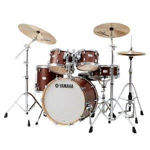 "YAMAHA TMP0F4SAZR18 [Tour Custom / 20""バスドラムスタンダードセット + A Zildjian Rock シンバルセット/3シンバル仕様] 【BD20, FT14, TT12&10, SD14, ハードウェア&シンバル一式】"