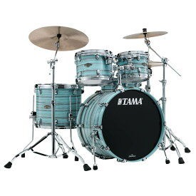 "TAMA WBS42S-LLO [Starclassic Walnut/Birch 4pc Set (22""BD, 16""FT, 12"" & 10""TT with Double Tom Holder) / Lacquer Arctic Blue Oyster] 【受注生産品】"