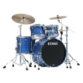 """TAMA WBS42S-LOR [Starclassic Walnut/Birch 4pc Set (22""""BD, 16""""FT, 12"""" & 10""""TT with Double Tom Holder) / Lacquer Ocean Blue Ripple]"""