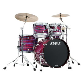 """TAMA WBS42S-LPO [Starclassic Walnut/Birch 4pc Set (22""""BD, 16""""FT, 12"""" & 10""""TT with Double Tom Holder) / Lacquer Phantasm Oyster]"""