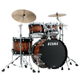 "TAMA WBS42S-MBR [Starclassic Walnut/Birch 4pc Set (22""BD, 16""FT, 12"" & 10""TT with Double Tom Holder) / Molten Brown Burst]"