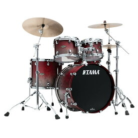 "TAMA WBS42S-SGF [Starclassic Walnut/Birch 4pc Set (22""BD, 16""FT, 12"" & 10""TT with Double Tom Holder) / Satin Burgundy Fade] 【受注生産品】"