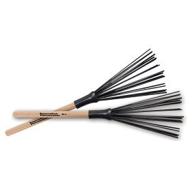 Innovative Percussion BR-4 [Fixed Wood Handle Synthetic Brushes / Heavy]