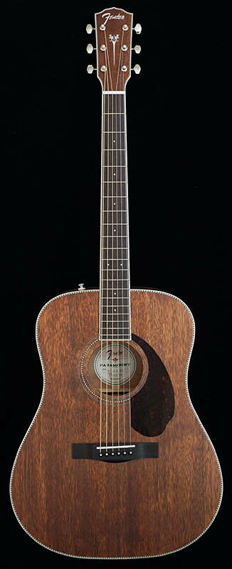 Fender Acoustics PM-1 Standard Dreadnought NE / All-Mahogany 【ikbp5】