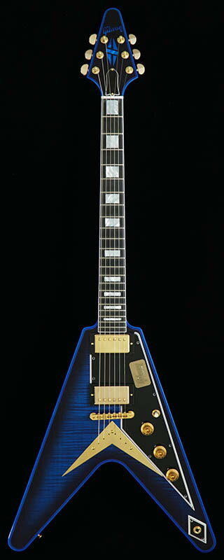 Gibson CUSTOM SHOP Custom Collection Limited Flying V Custom Flame Top Stealth/Blue Widow 【PGC-GIBSON】
