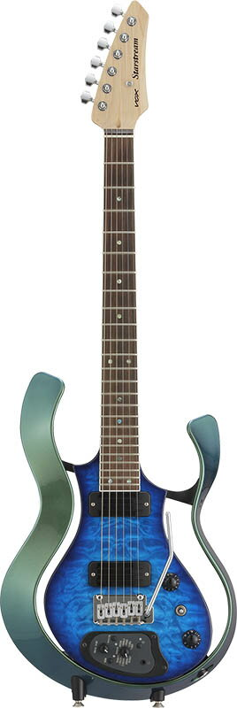 VOX Starstream Type 1-24 with Dimarzio (VSS-1-24MGBB-Q/Metallic Green Frame with Black Burst Quilted Maple Top)