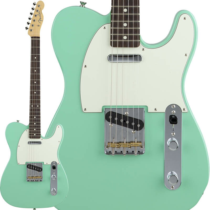 Fender Made in Japan Hybrid 60s Telecaster (Surf Green) [Made in Japan] 【数量限定!ギターアンプ VOX Pathfinder10プレゼント!!】 【ポイント5倍】 【お取り寄せ品】