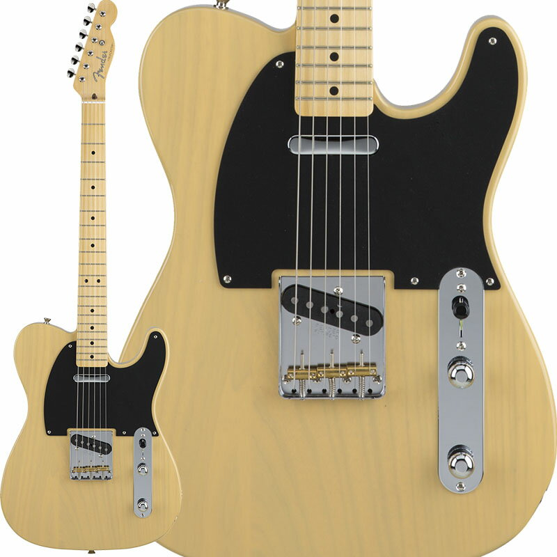 Fender Made in Japan Hybrid 50s Telecaster (Off White Blonde) [Made in Japan] 【数量限定!ギターアンプ VOX Pathfinder10プレゼント!!】 【ポイント5倍】 【お取り寄せ品】