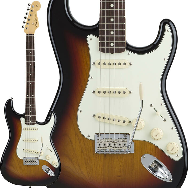 Fender Made in Japan Hybrid 60s Stratocaster (3-Color Sunburst) [Made in Japan] 【数量限定!ギターアンプ VOX Pathfinder10プレゼント!!】 【ポイント5倍】 【お取り寄せ品】