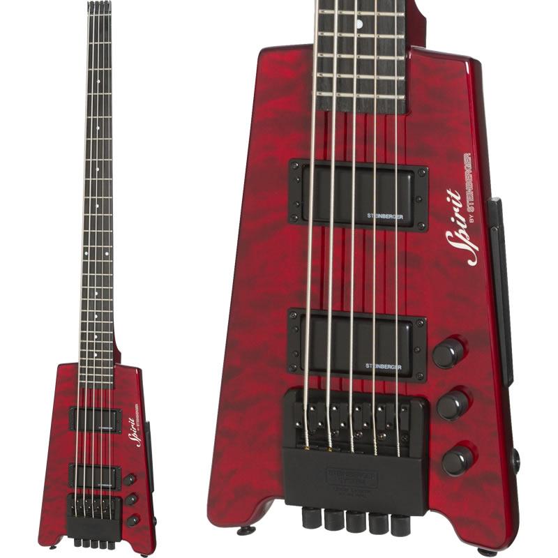 """Steinberger Spirit XT-25 """"Quilt Top"""" STANDARD 5-strings Bass (WR/Wine Red)"""