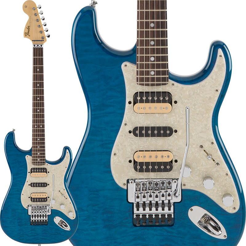 Fender Michiya Haruhata Stratocaster (Caribbean Blue Trans/ Rosewood) [春畑道哉(TUBE)日本製シグネイチャーストラトキャスター] 【初回入荷分完売、2019年1月以降入荷分ご予約受付中!】 【ikbp5】